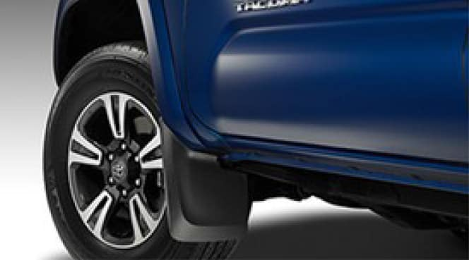 2020 Toyota Tacoma 4X2 Mudguards - Some models will require factory flares