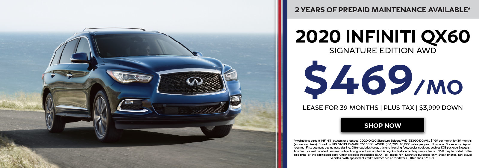 2020 INFINITI QX60 Offers. Click to shop now.