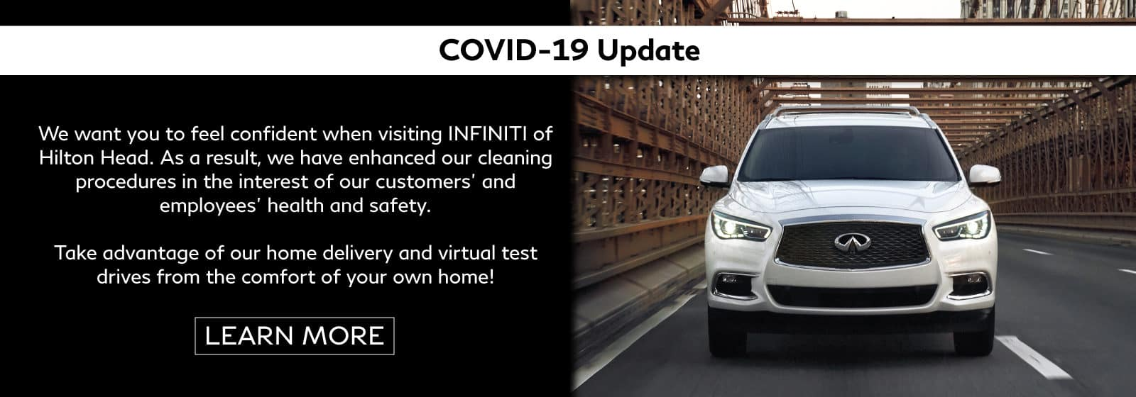 Covid-19 Update from INFINITI of Hilton Head