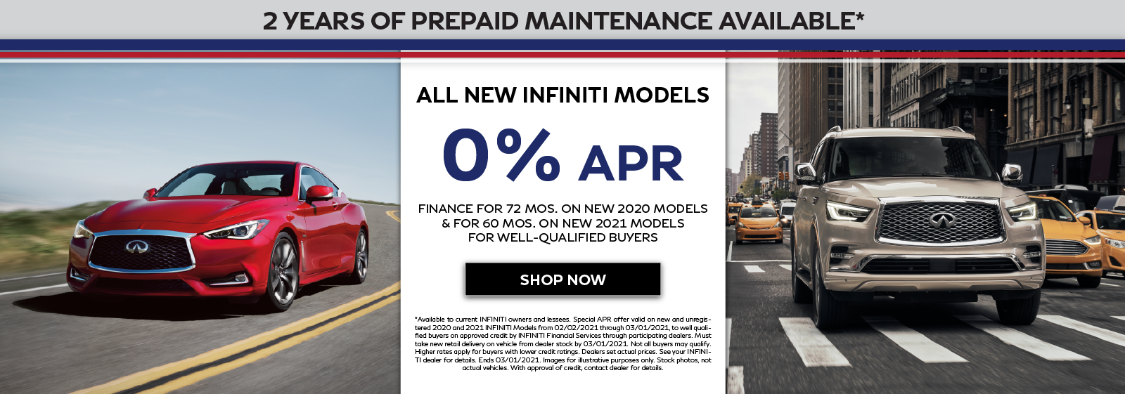0% APR for 60 or 72 months on New INFINITI. Click to shop now.
