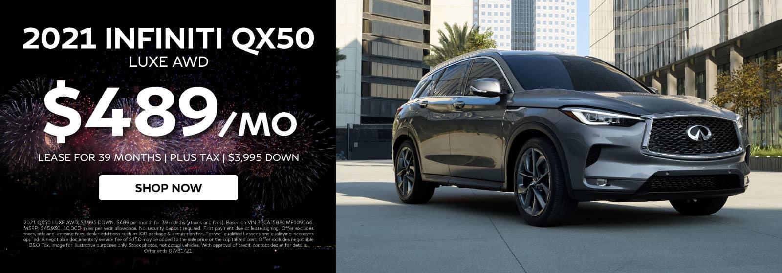 2021QX50LUXE-$489/MO