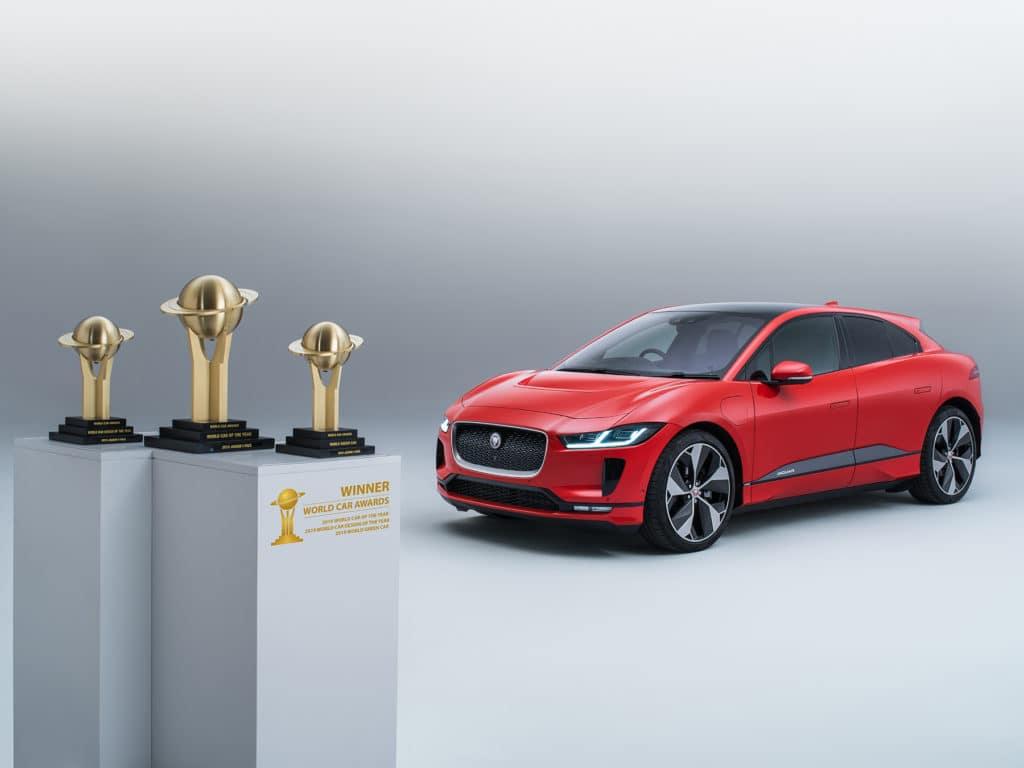 Jaguar I-Pace with Trophies