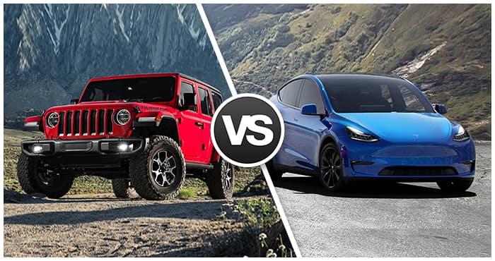 Wrangler 4xe vs Tesla Model Y Comparison