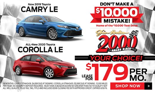 2019 Camry and 2020 Corolla