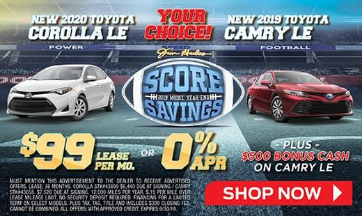 2019 Camry & 2020 Corolla