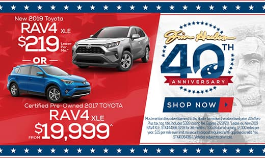 New 2019 Toyota RAV4 OR CPO 2017 RAV4
