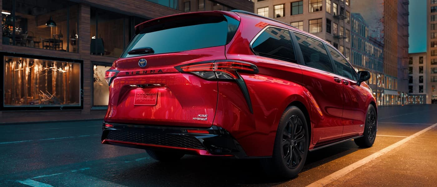 2021 toyota sienna driving on road