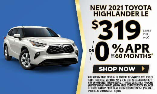 New 2021 Toyota Highlander