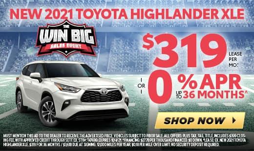 New 2021 Toyota Highlander