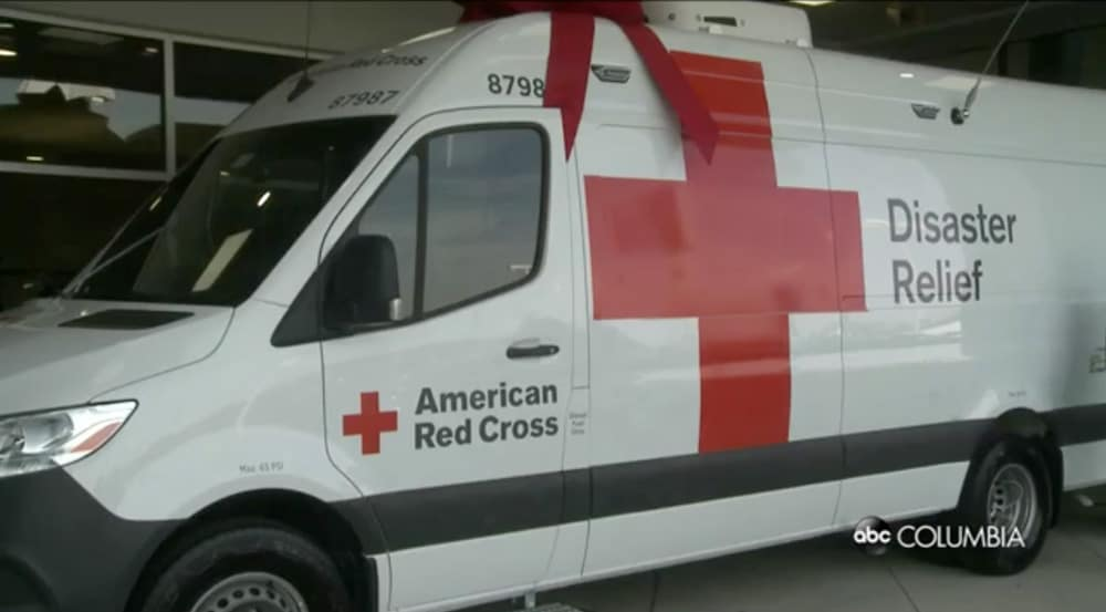 Donated van to American Red Cross