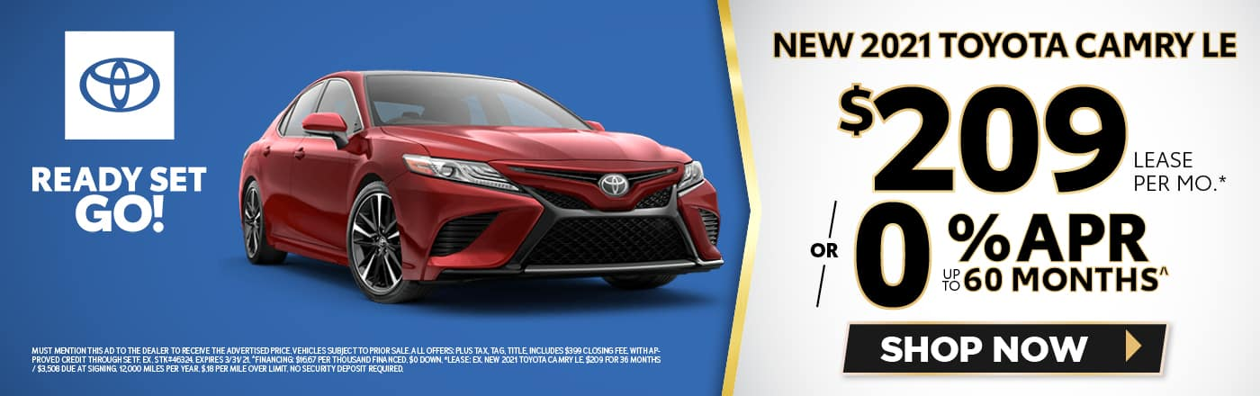 New 2021 Toyota Camry - SRP