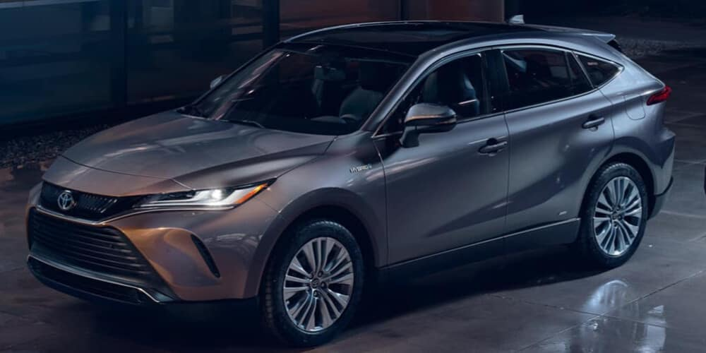2021 Toyota Venza parked at night