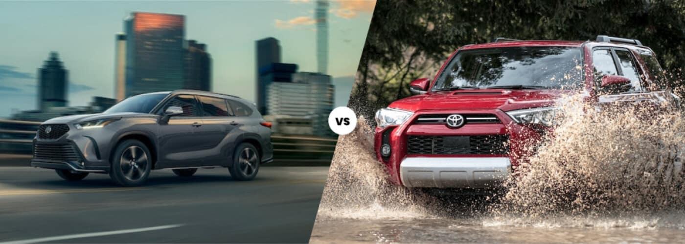 2021 Toyota Highlander vs 2021 Toyota 4Runner comparison
