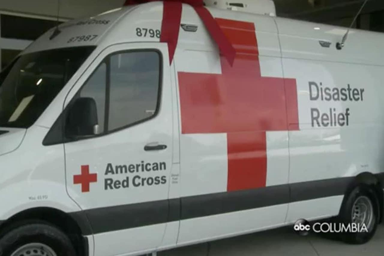 Jim Hudson Donates to Red Cross