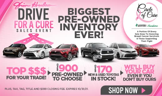 Drive for the Cure Sales Event