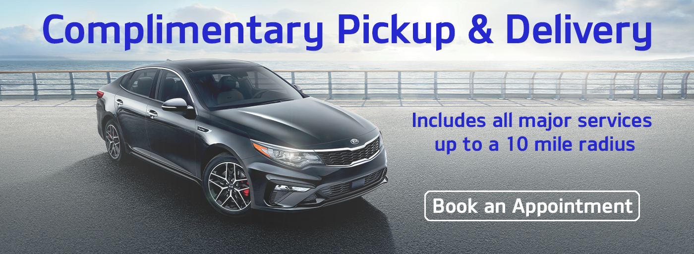 Complimentary Pickup and Delivery Banner