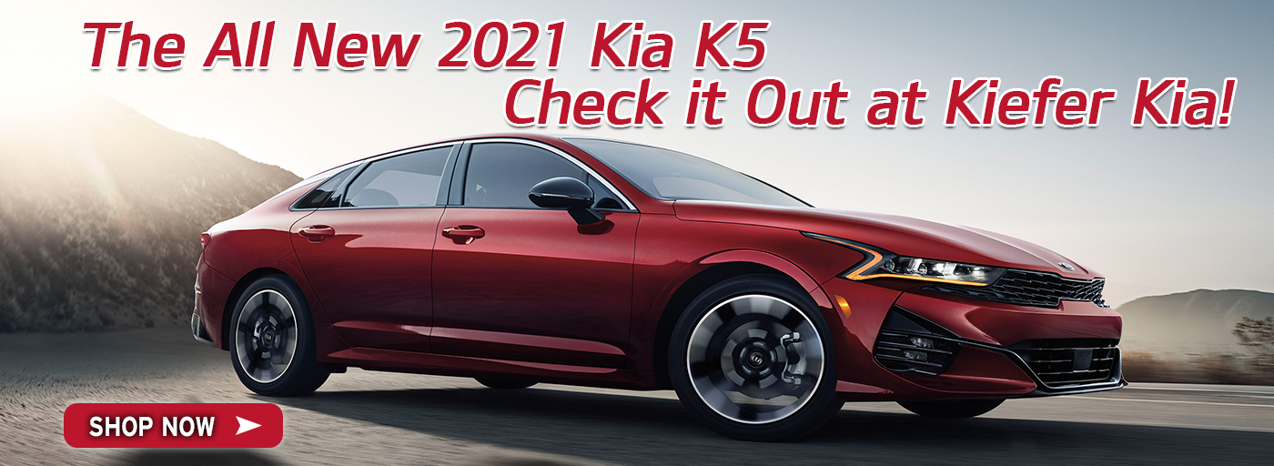 The all new 2021 Kia K5. Check it out at Kiefer Kia!