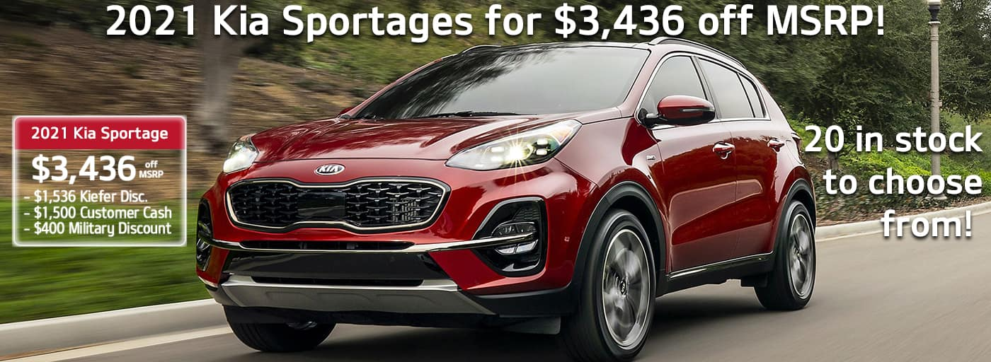 2021 Kia Sportages for $3,436 off MSRP