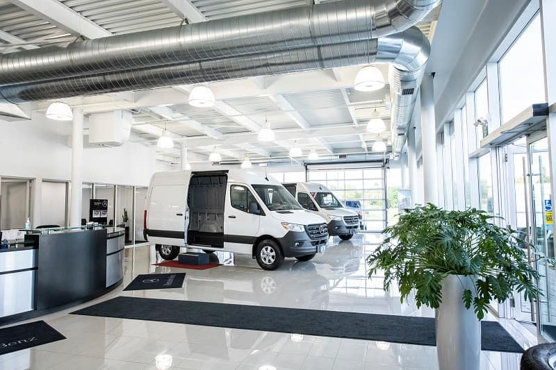van centre showroom