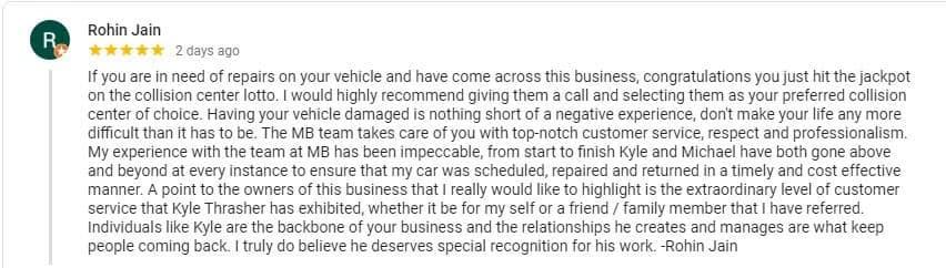 Customer Testimonial Rohin