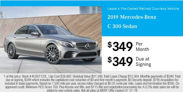 Certified Pre-Owned 2019 Mercedes-Benz C 300 Sedan RWD 4dr Car