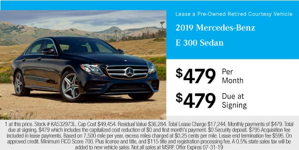 Pre-Owned 2019 Mercedes-Benz E 300 RWD Sedan RWD 4dr Car