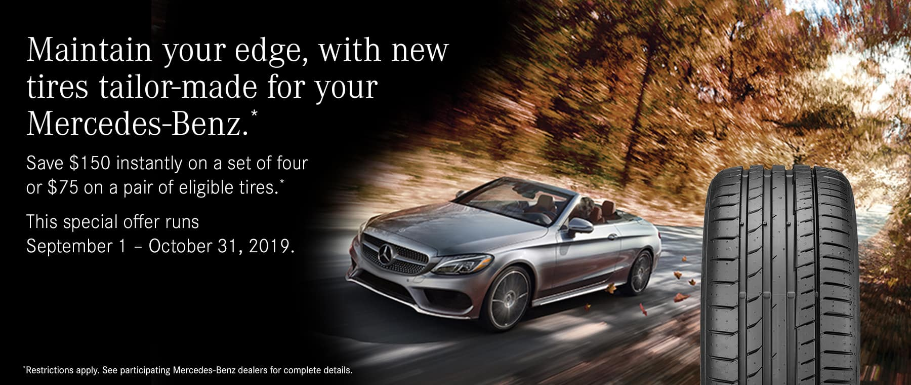 new tires tailor-made for your mercedes-benz