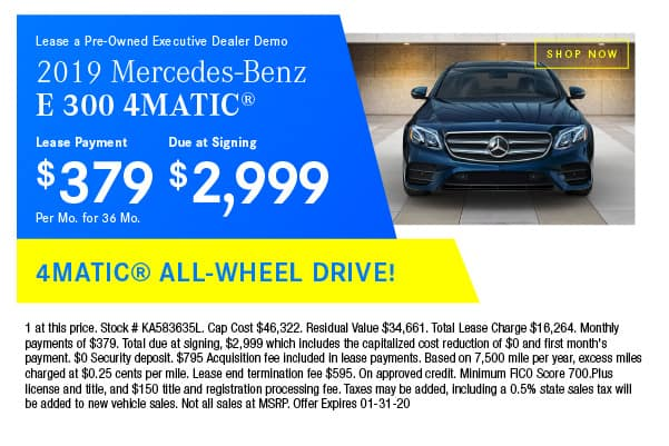 Certified Pre-Owned 2019 Mercedes-Benz E 300 4MATIC® Sedan AWD