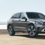 2020 Mercedes-Benz GLC parked on Portland beach