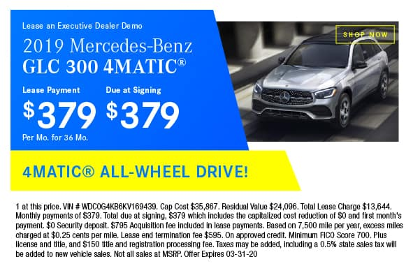 Certified Pre-Owned 2019 Mercedes-Benz GLC 300 4MATIC® SUV AWD