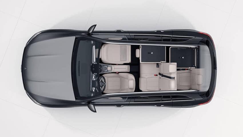 2020 Mercedes Benz GLB aerial view