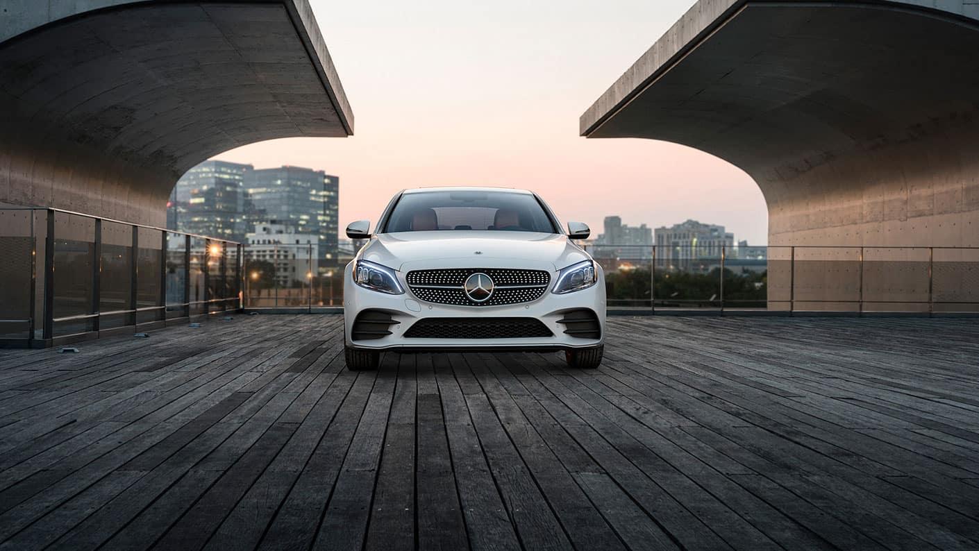 2019-Mercedes-Benz-C-Class-Sedan-white-front-exterior