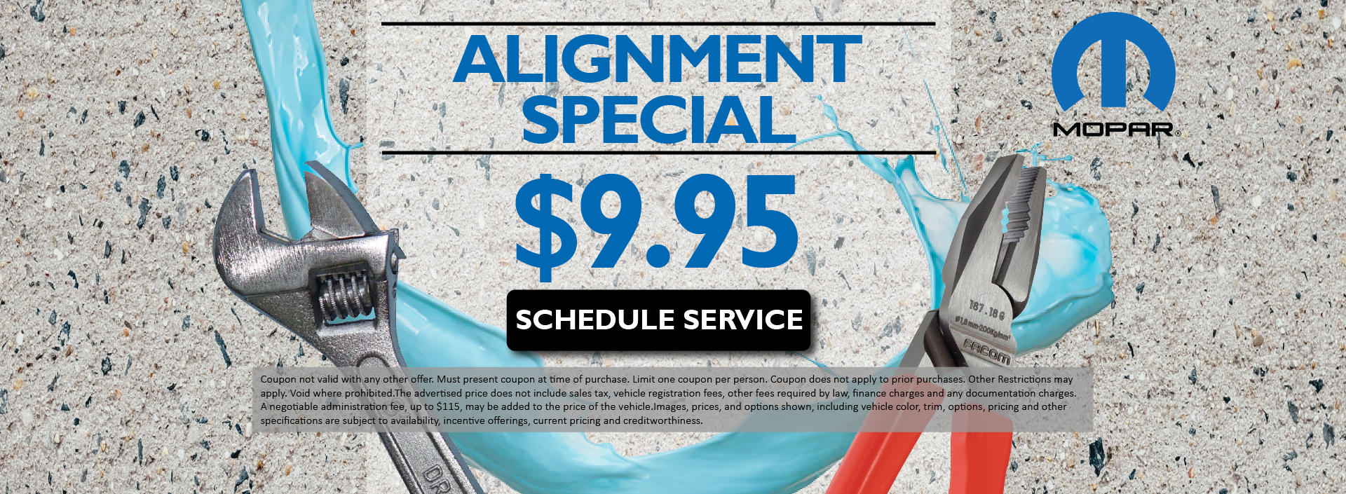 Alignment Special $9.95