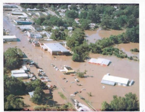 Flooded Dealership