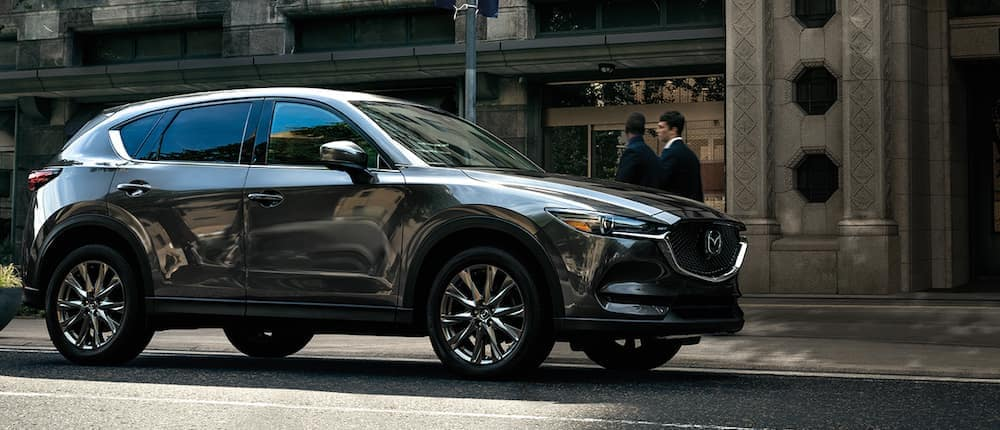 A 2020 Mazda CX-5 parked on a city street