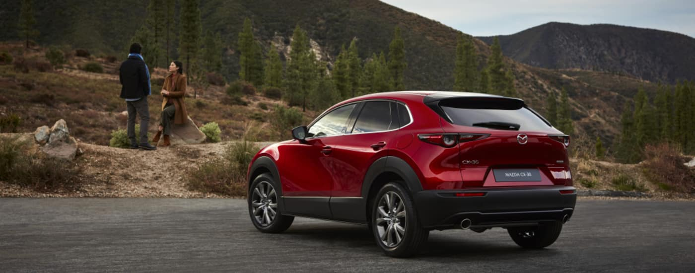 Mazda CX-30 by the mountains