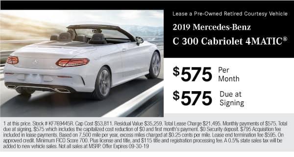 2019 MB C 300 Cabriolet 4MATIC