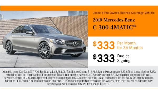 Lease a 2019 Mercedes-Benz C 300 AWD 4MATIC®
