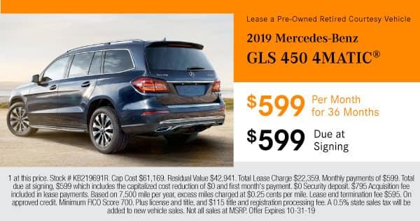 Lease a 2019 Mercedes-Benz GLS 450 AWD 4MATIC®