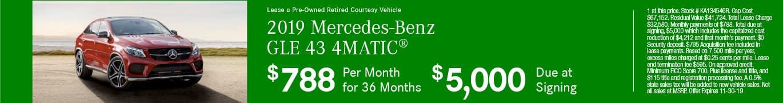 2019 Mercedes-Benz GLE 43 4MATIC