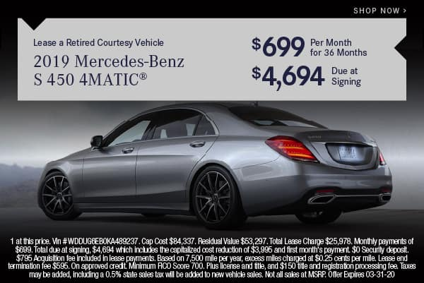 Certified Pre-Owned 2019 Mercedes-Benz S 450 AWD 4MATIC®