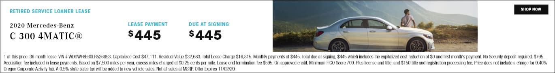 New C-Class Sedan For Sale in Portland | Mercedes-Benz of ...