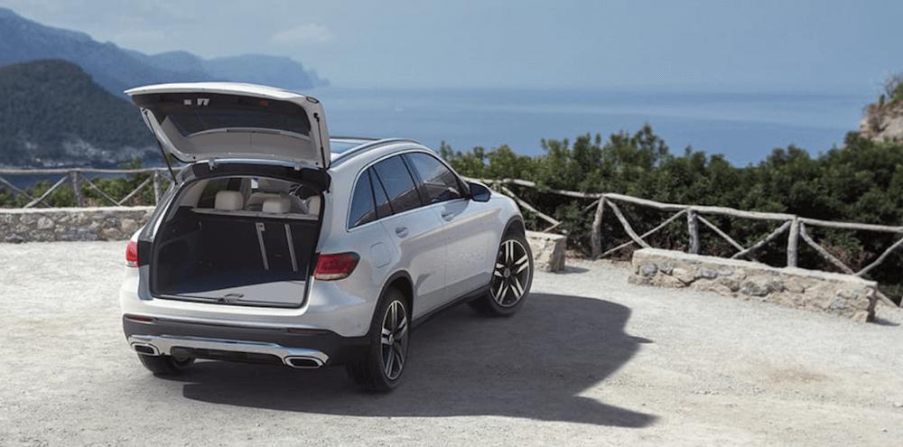 2021 Mercedes-Benz GLC Open Trunk showing Dimensions