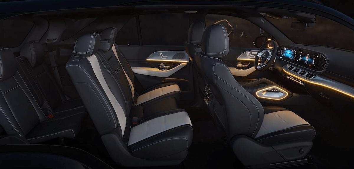 2021 Mercedes-Benz GLE Interior Seating Cutaway Banner