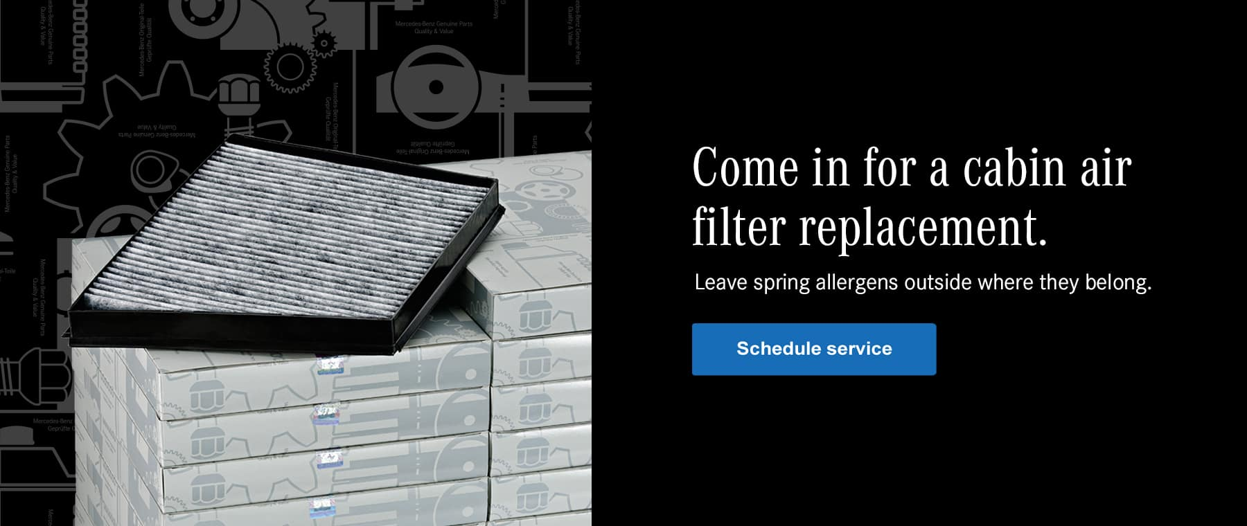 Mercedes-Benz filter replacement services