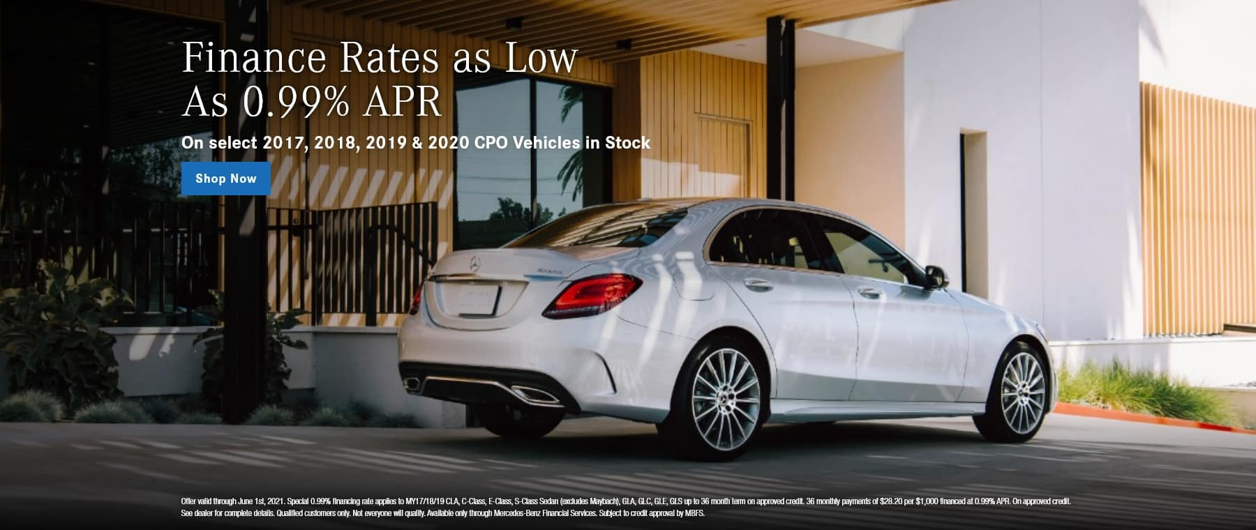 Finance rates as low as 0.99% APR