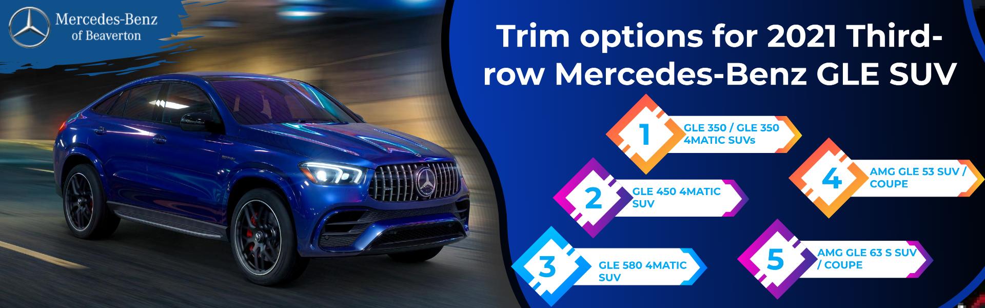 Trim options for 2021 Third-row Mercedes-Benz GLE SUV