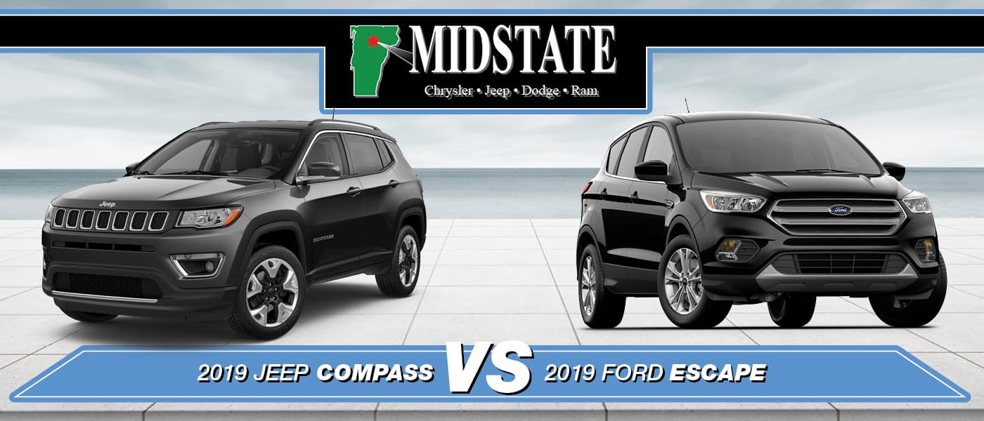 2019 jeep compass vs 2019 ford escape barre vt 2019 jeep compass vs 2019 ford escape