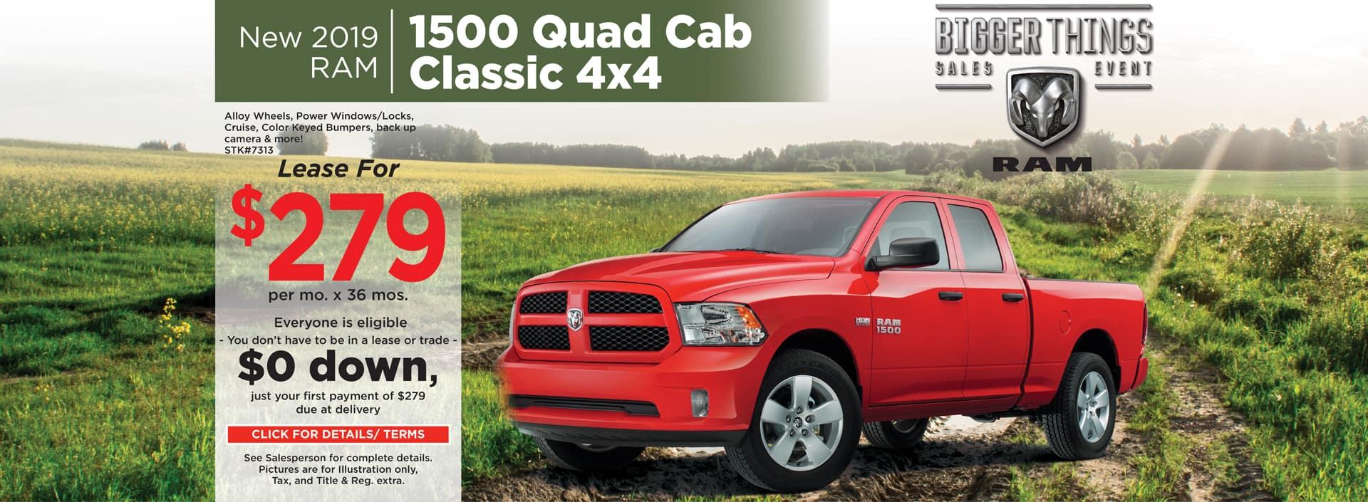 2019 RAM 1500 Quad Cab