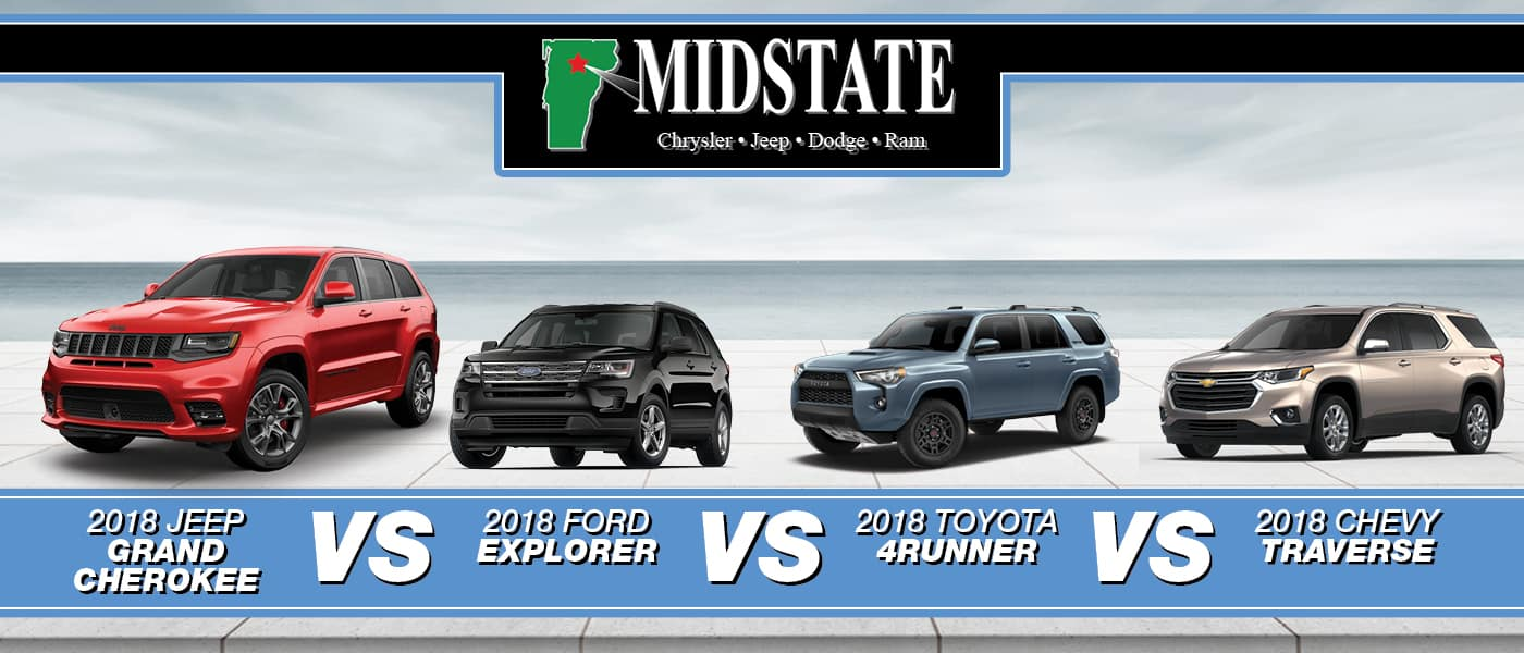 Jeep Grand Cherokee Vs Toyota 4runner >> 2018 Jeep Grand Cherokee Vs Ford Explorer Vs Toyota